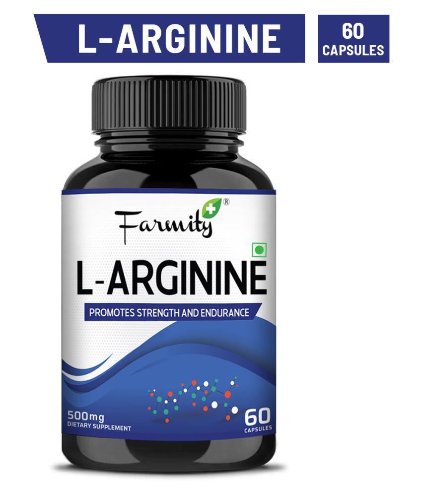 farmity L-Arginine for Muscle Growth   - 60 500 mg Capsule