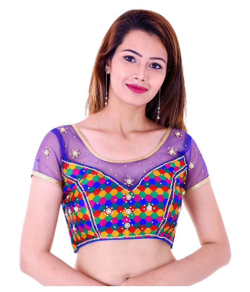 ADABHUT Multicoloured Art Silk Readymade with Pad Blouse