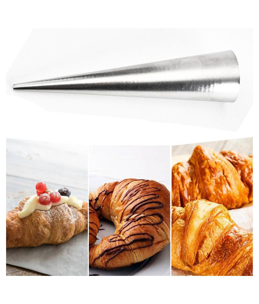 Stainless Steel Danish Tube Solenoid Cone Claw Crisp Mold Croissant Mould Tool #