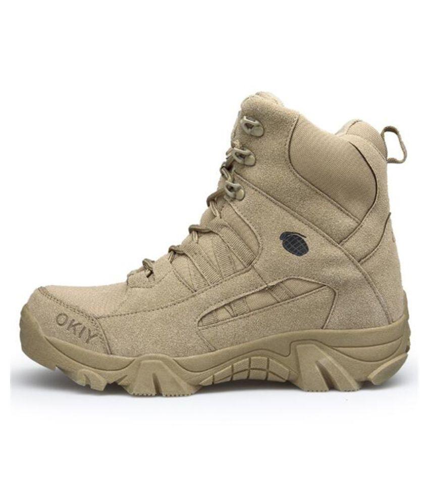 Utopia Khaki Hiking Shoes