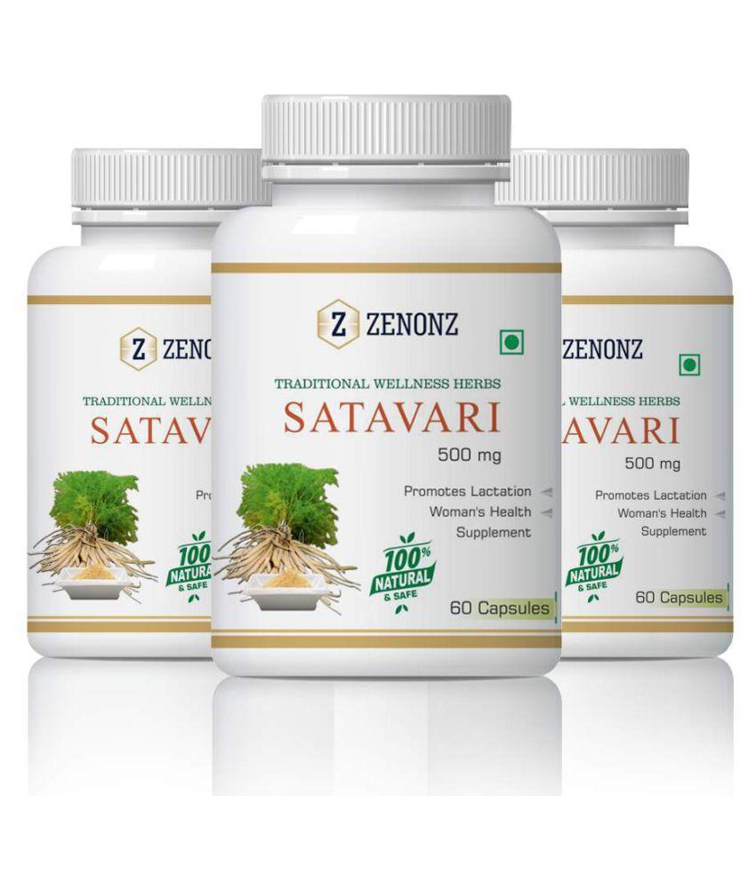zenonz Pure Ayurvedic Satavari Pregnent Women Capsule 500 mg Pack of 3