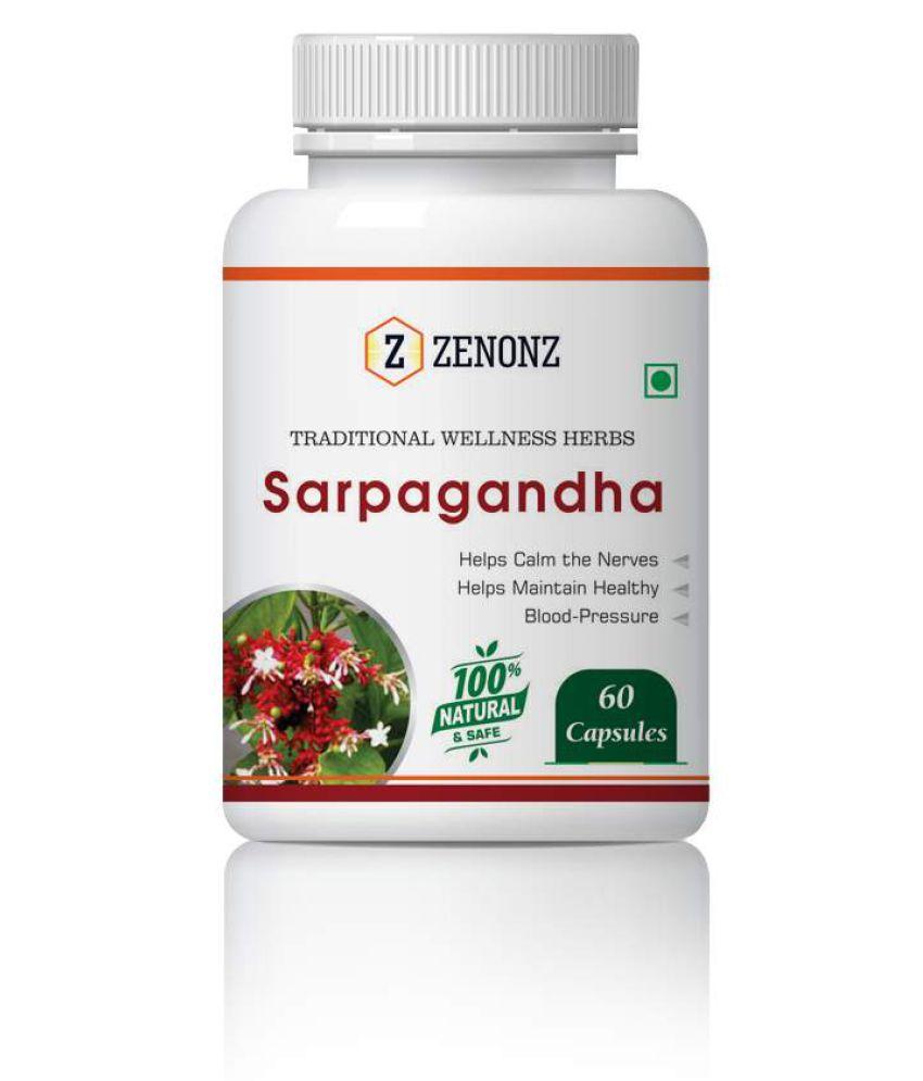 zenonz Sarpagandha Help High Blood Pres.&Stress Capsule 500 mg Pack Of 1