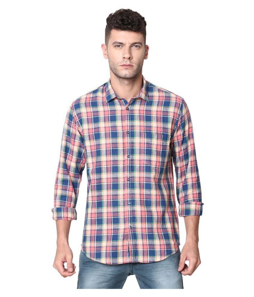 CAVALLO by Linen club Linen Multi Checks Shirt