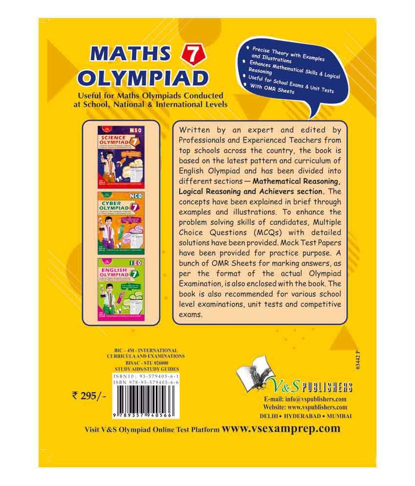 International Maths Olympiad - Class 7 (With CD)