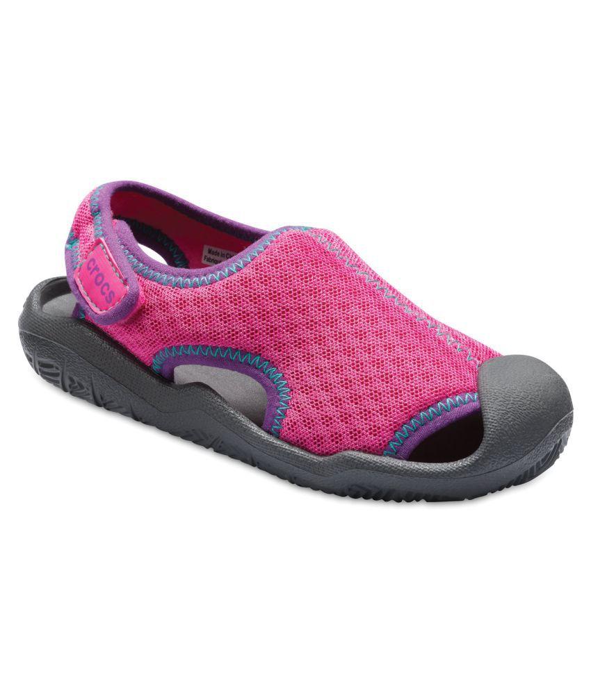 Crocs Swiftwater Magenta Kids Sandal