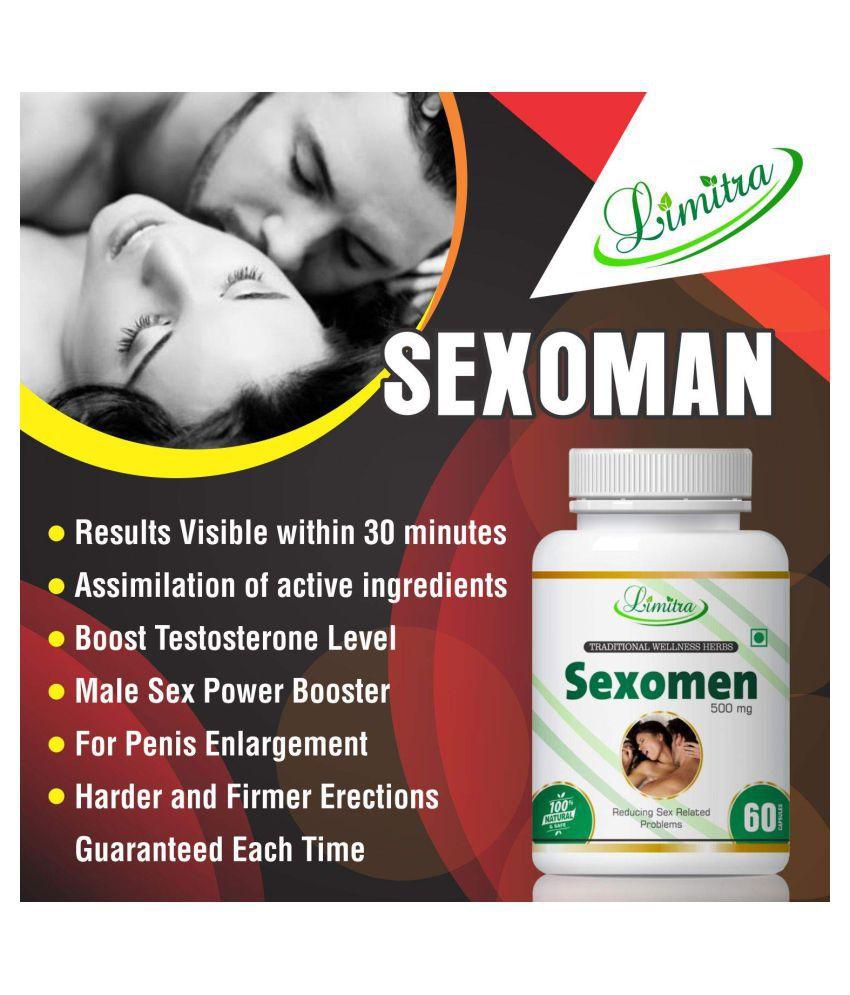 limitra Sexomen Increase Sex Stamina Capsule 500 mg Pack