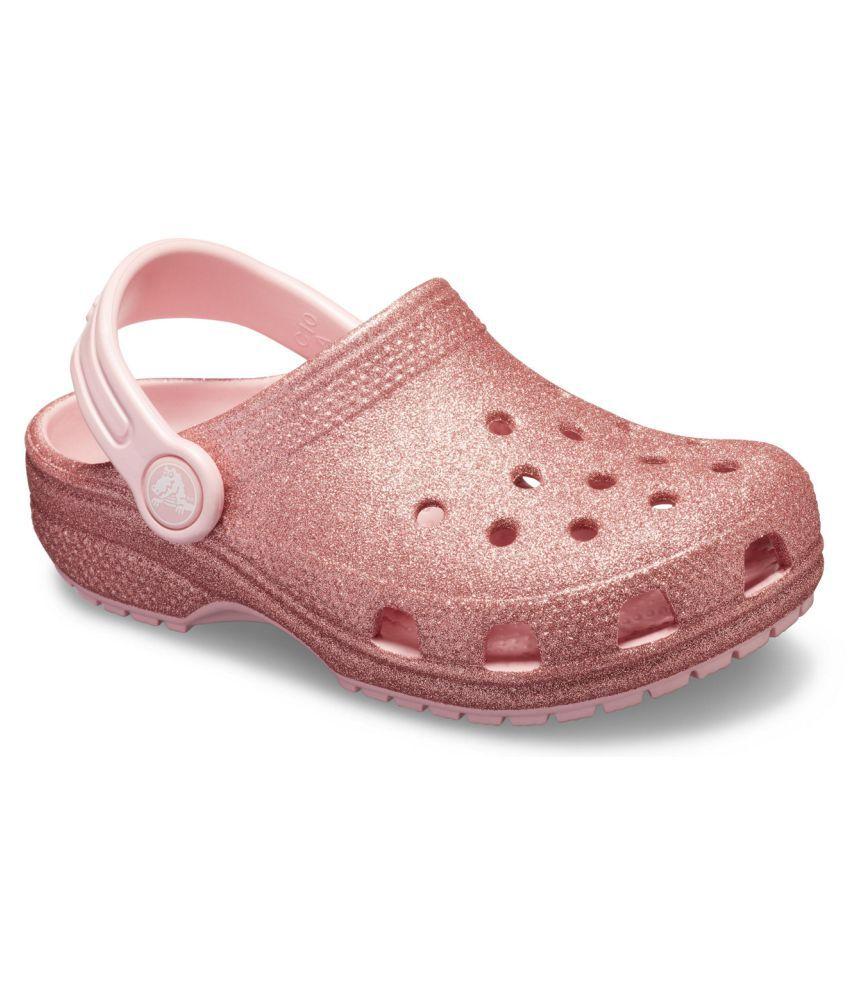 Crocs Classic Glitter Pink Kids Clog