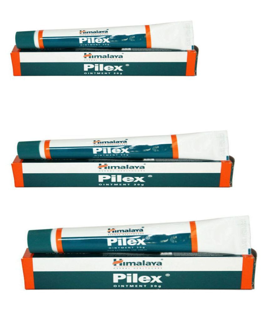 HIMALAYA PLUS Pilex Ointment Gel 30 gm Pack of 3