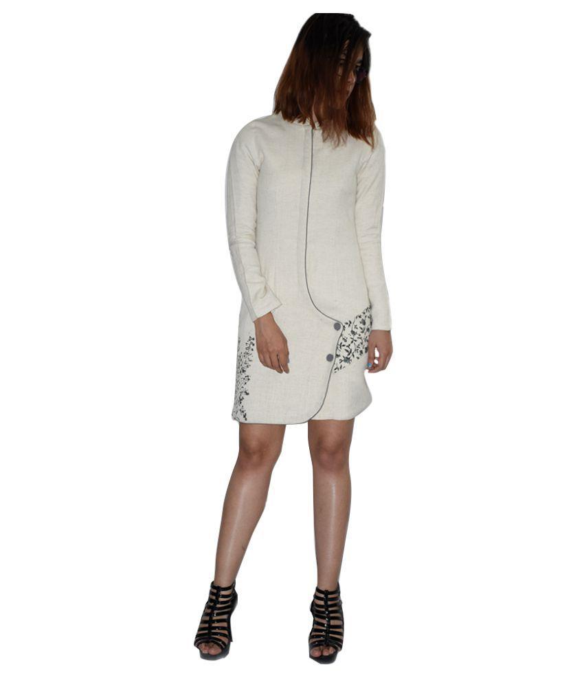 Rajneeral Babutta Group Cotton Off White A- line Dress
