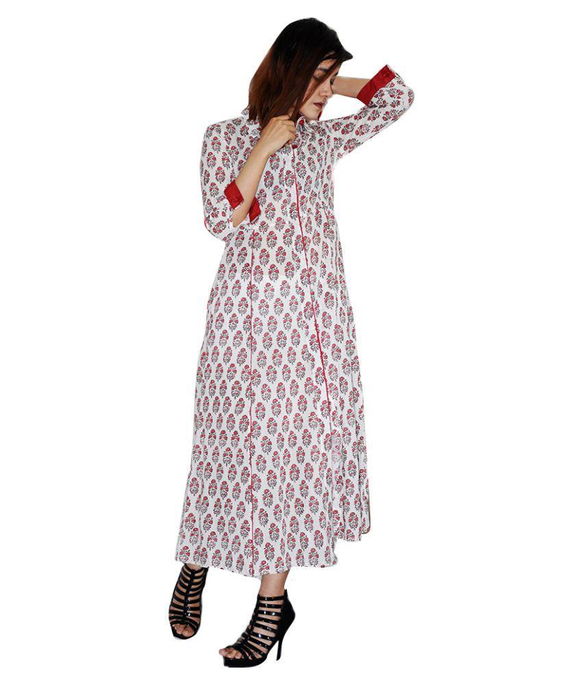 Rajneeral Babutta Group Cotton Red A- line Dress