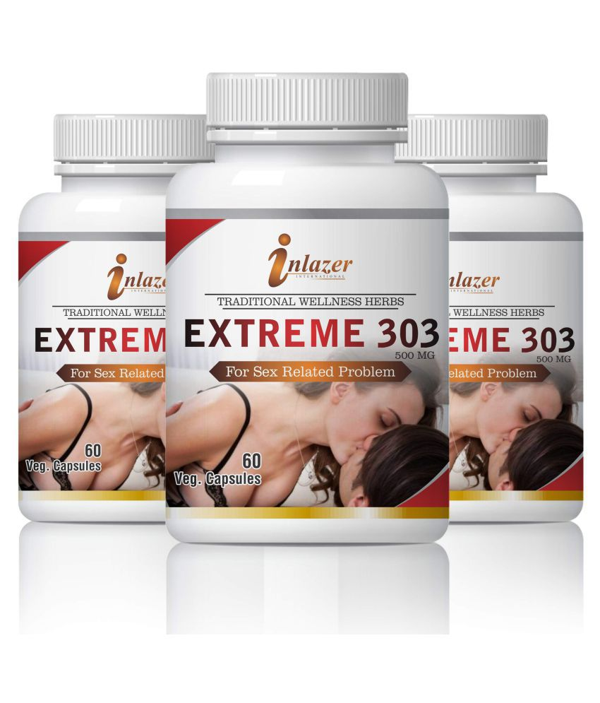 Inlazer Extreme 303 Natural Sex Power For Men Capsule 500 mg Pack of 3