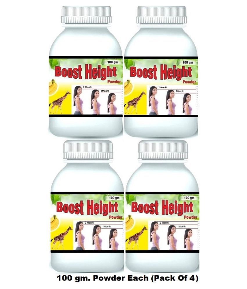 Hind Healthcare Boost Height Increase Banana Flavor Powder 400 gm Pack Of 4