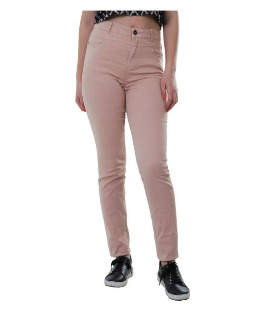 Malachi Denim Lycra Jeans - Peach