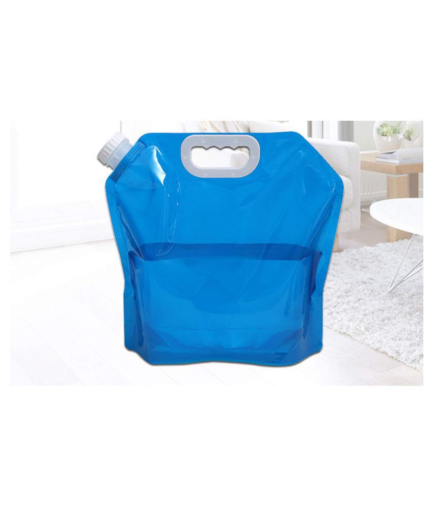 Portable Folding 5L  Water Storage Carrier Lifting Bag Camping Survival Kit Tool