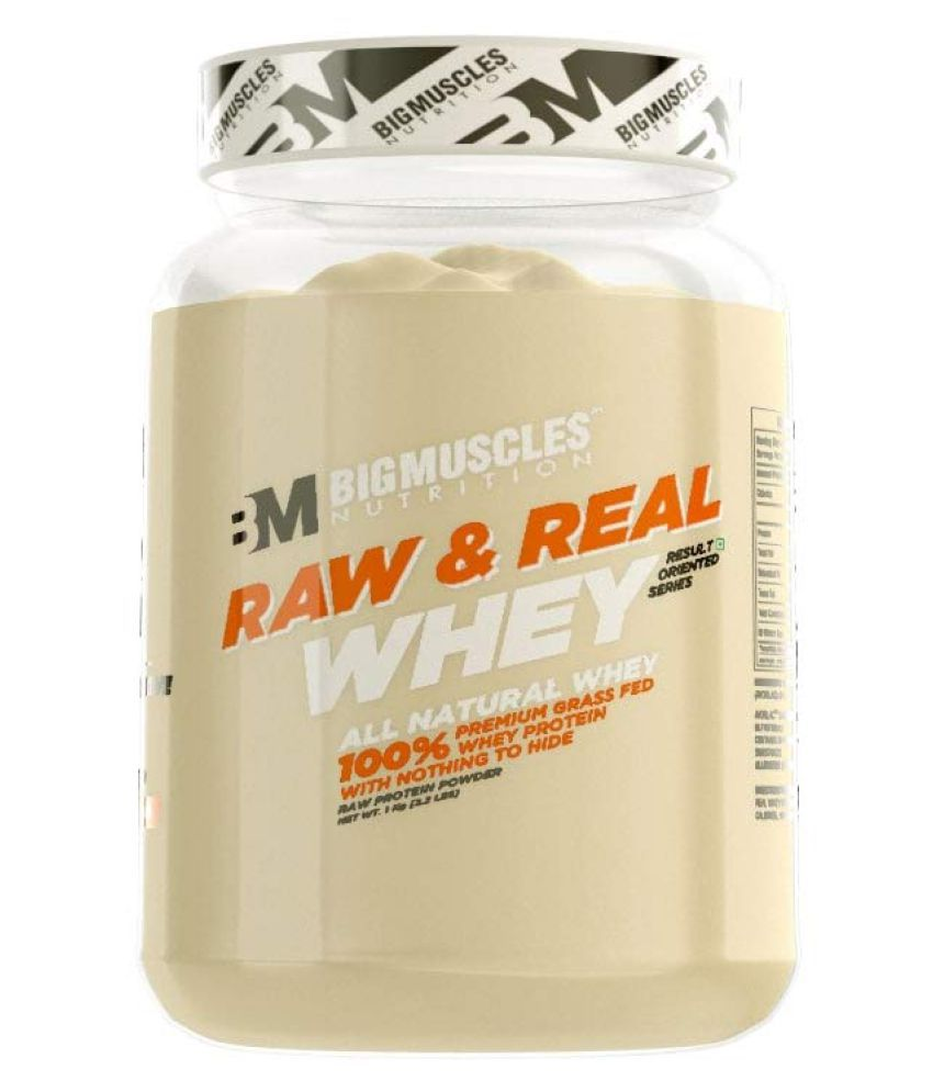 BIGMUSCLES NUTRITION Raw & Real Whey Protein Unflavoured 1 kg