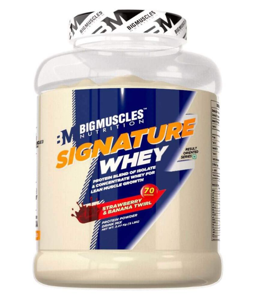 BIGMUSCLES NUTRITION Signature Whey Protein Strawberry Banana Twirl 2267 gm