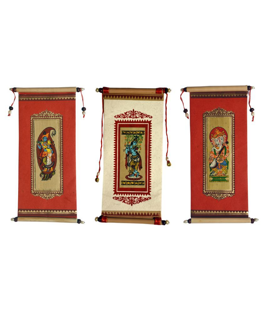 Village Kraft Handmade Paper, Palm Leaf and Cane Stick Red & White Gift Envelope, Party Festivals, Gifts, Shagun, Cash, Diwali, Wedding, Marriage, Envelope (17.78 x 8.89cm) (Pack of 20)