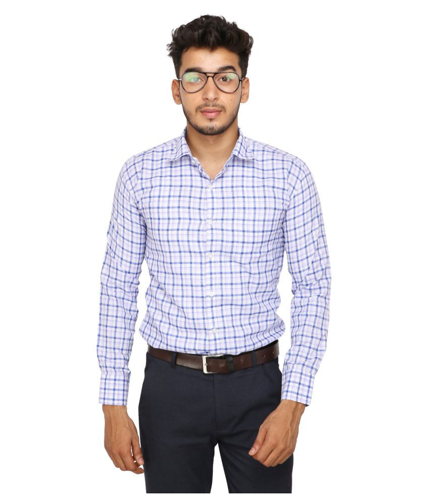 Koxko 100 Percent Cotton Blue Checks Shirt