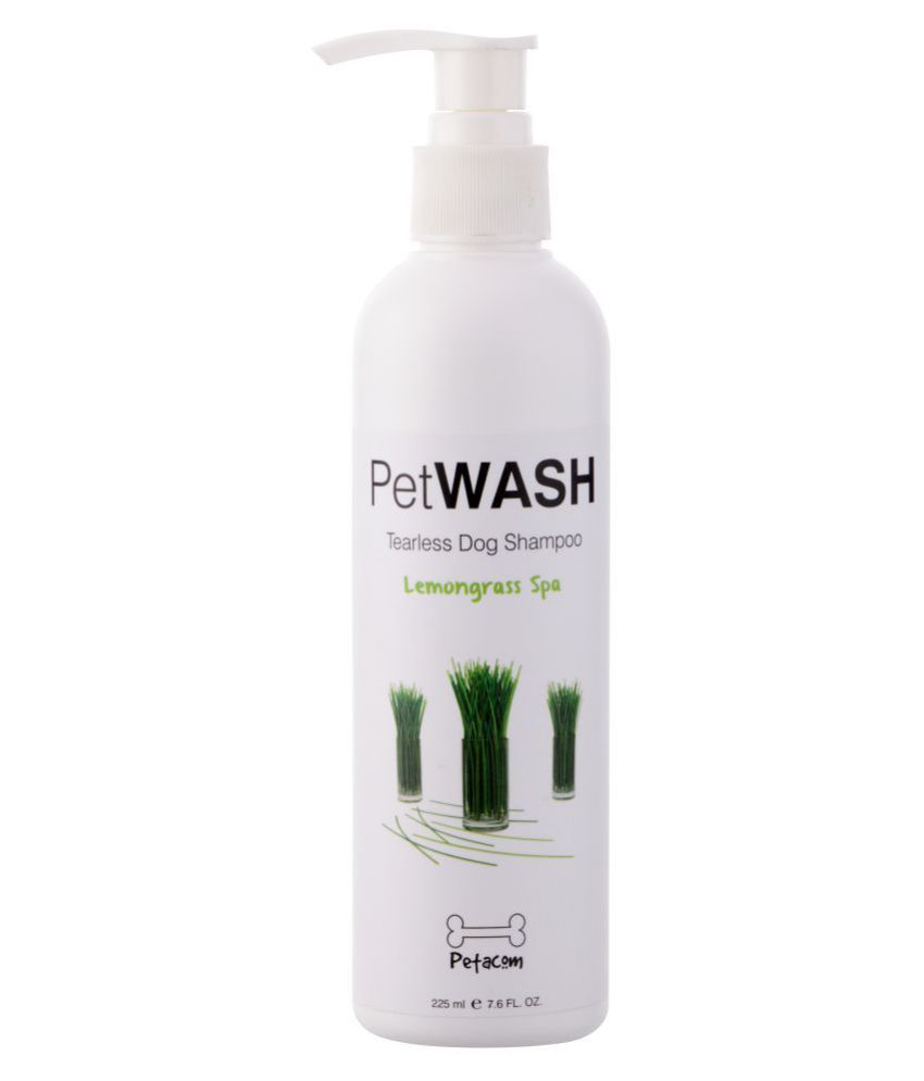 PETACOM Petawash Flea and Tick Anti-Fungal Dog Shampoo, Lemon Grass Spa, 225ml