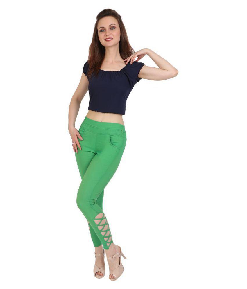 Nikvik Cotton Lycra Jeggings - Green