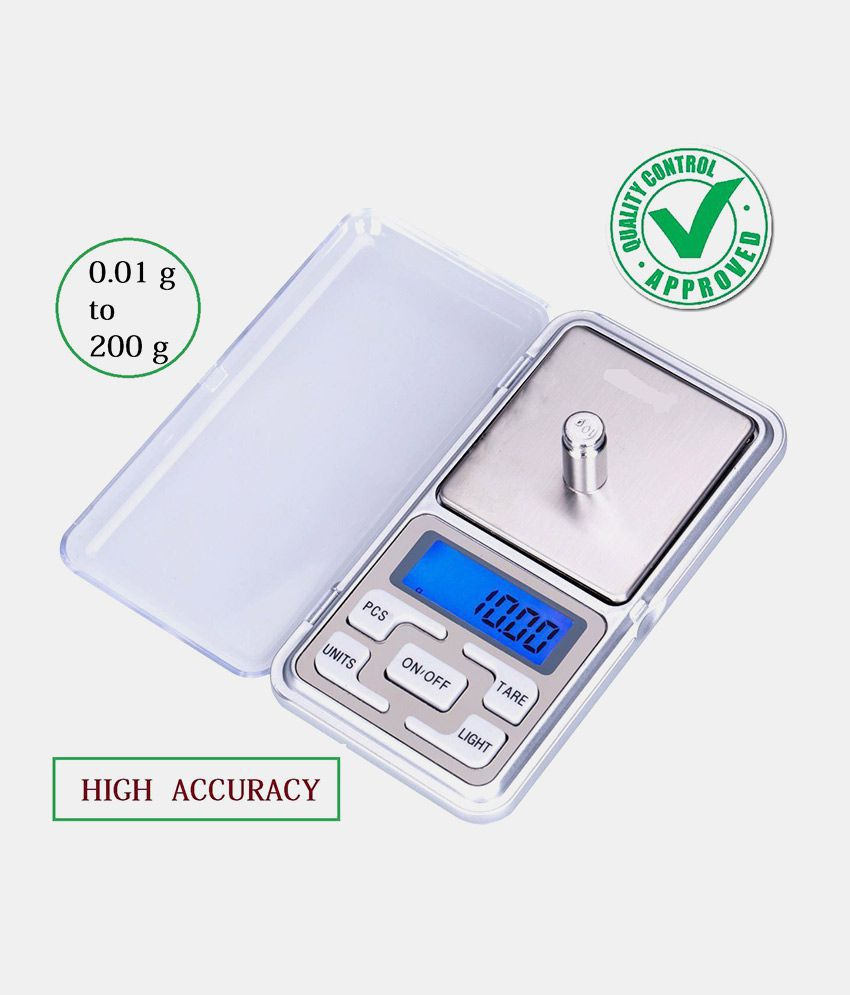 Dealcrox-Digital Display 0.1 g to 200 g Mini Pocket Weight Scale Measurement Jewellery Weighing Machine (Multicolor)