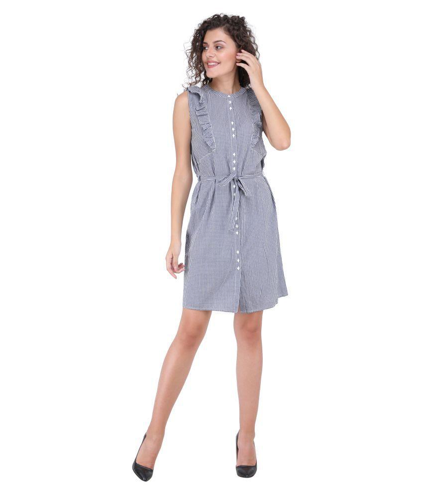 litlu Cotton Multi Color Regular Dress