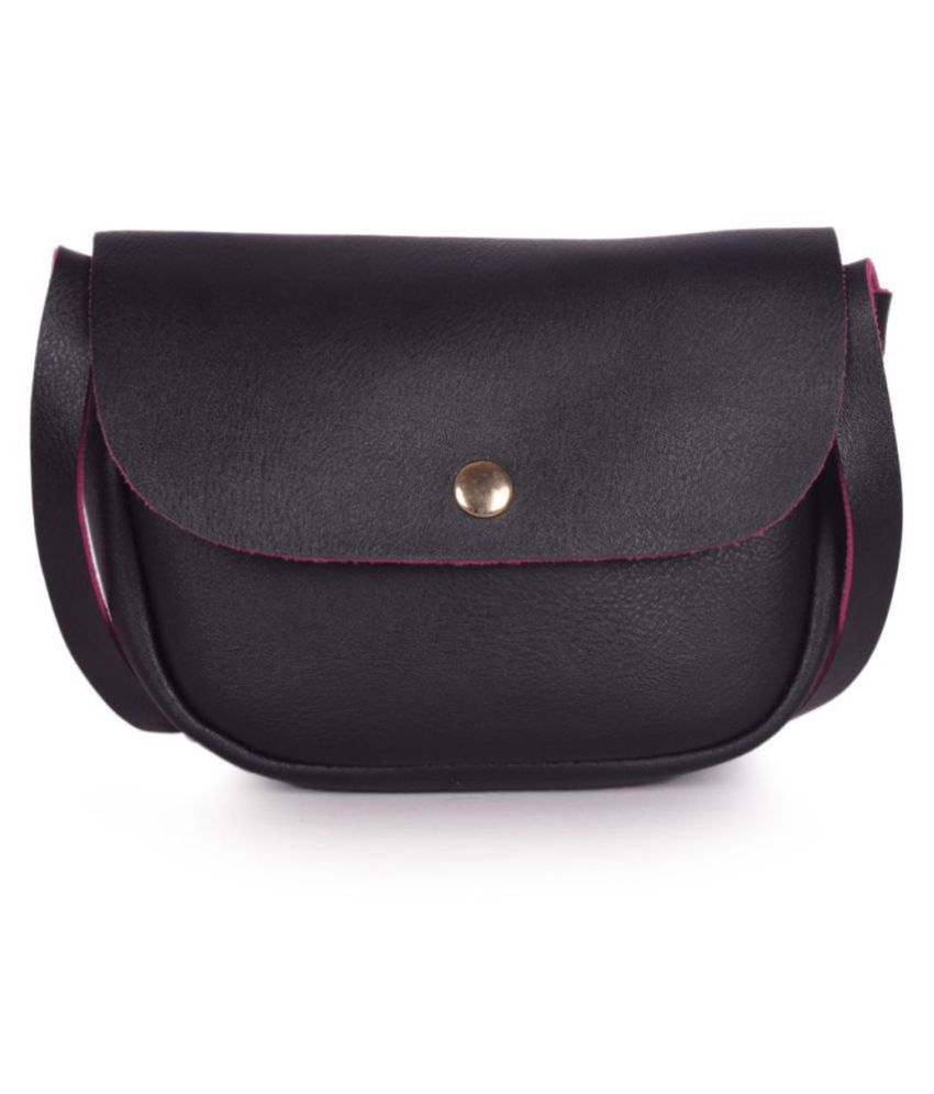 Bagkok Black P.U. Sling Bag