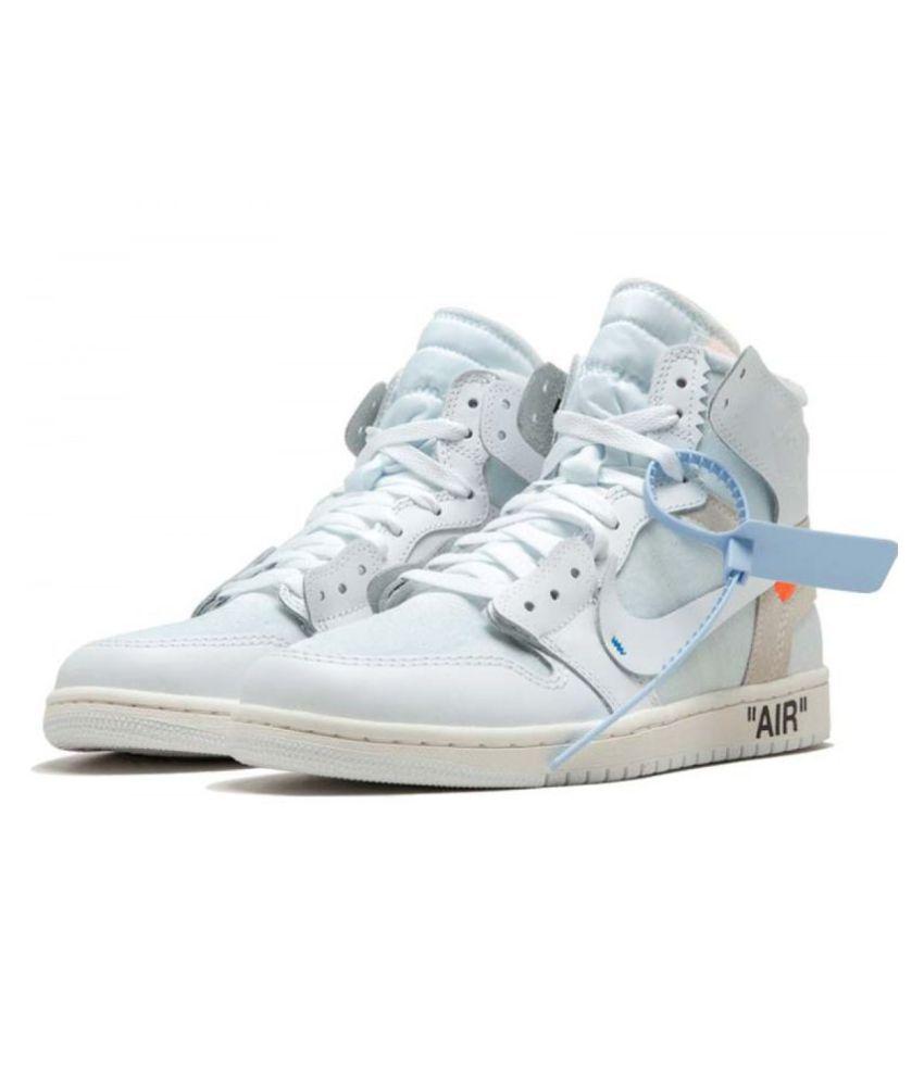 meet c7ac2 0f38e Nike AIR JORDAN 1 X OFF-WHITE White Basketball Shoes