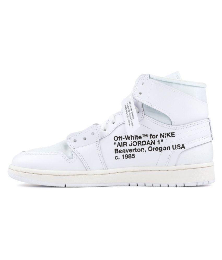 meet 798ff 22a44 Nike AIR JORDAN 1 X OFF-WHITE White Basketball Shoes