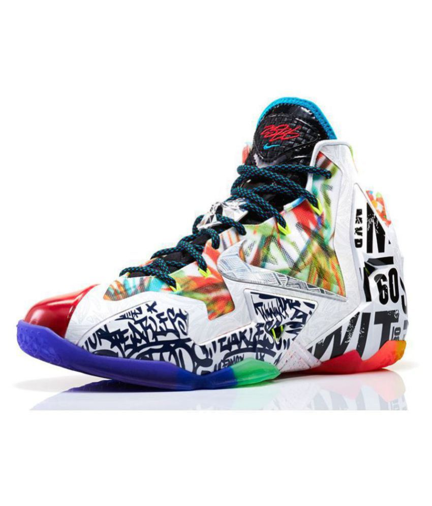 "outlet store c946d c6e8d Nike ""What The"" LeBron 11 & KD VI White Basketball Shoes"