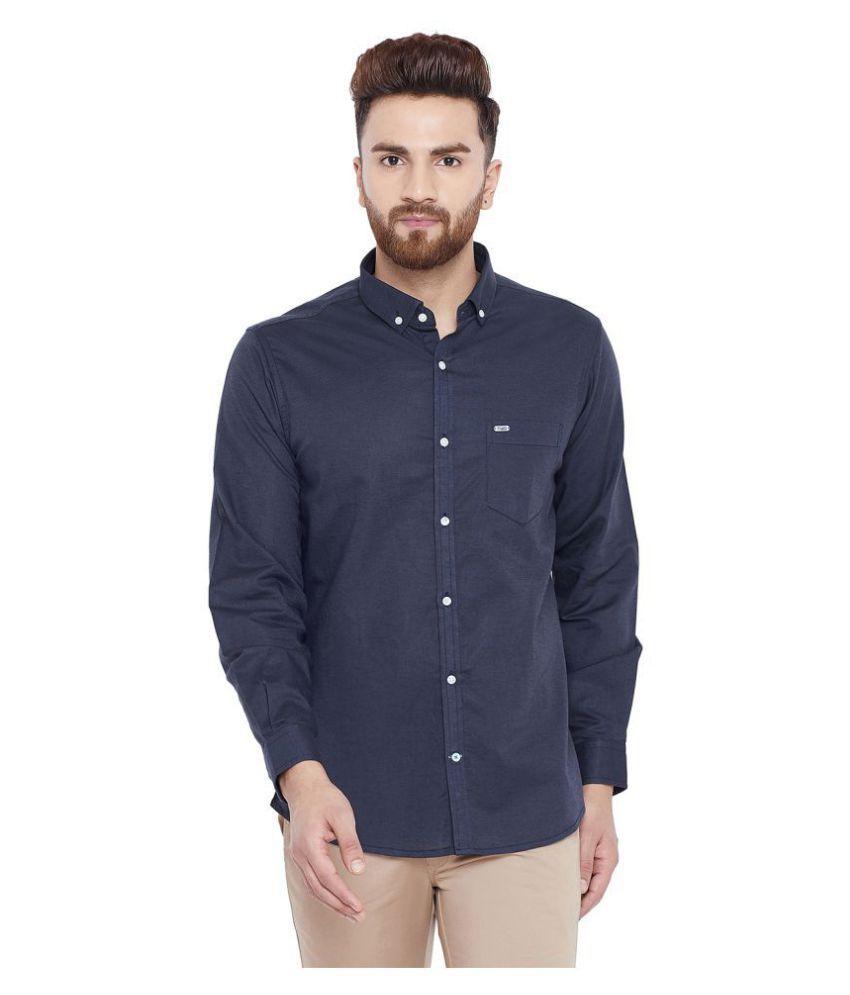 Canary London Linen Navy Solids Shirt