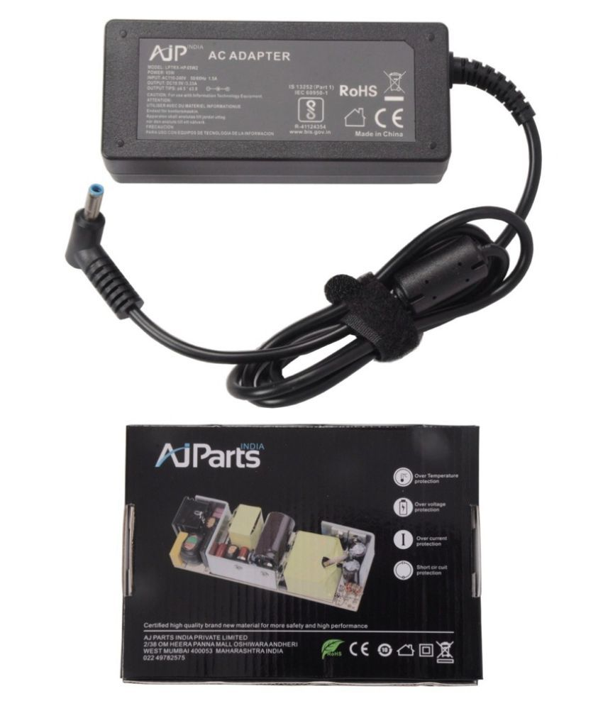 AJP India Laptop adapter compatible For HP Hp Pavilion 11-H120TU X2 65W PSU Battery Charger - Sold By AJ Parts India