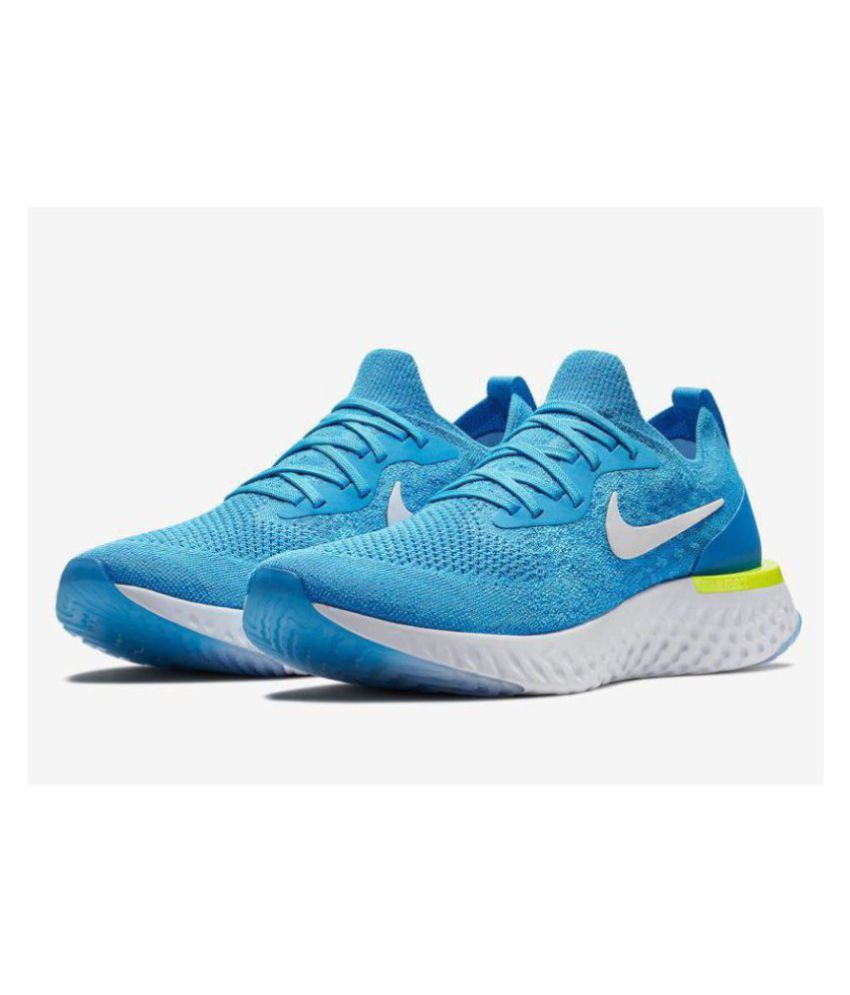 finest selection 7e756 56c84 Nike EPIC REACT FLYKNIT Blue Running Shoes