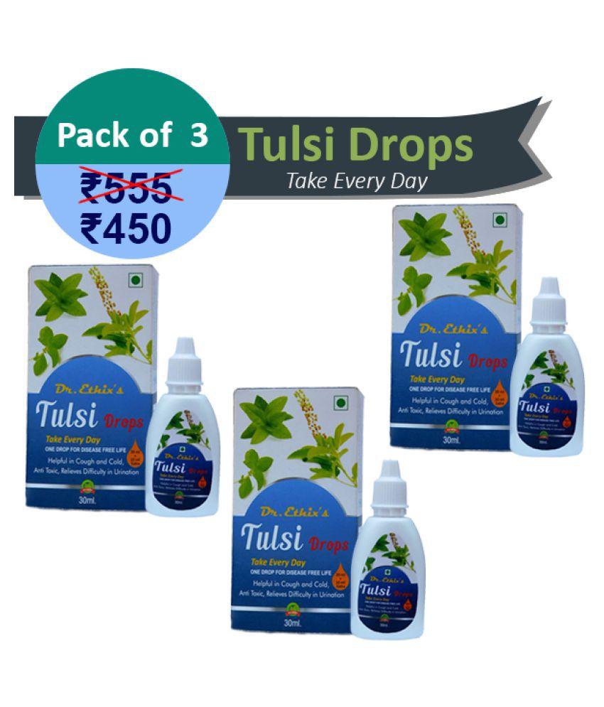 Ethix Tulsi Drops Pack of 3 Liquid 30 ml Pack of 3
