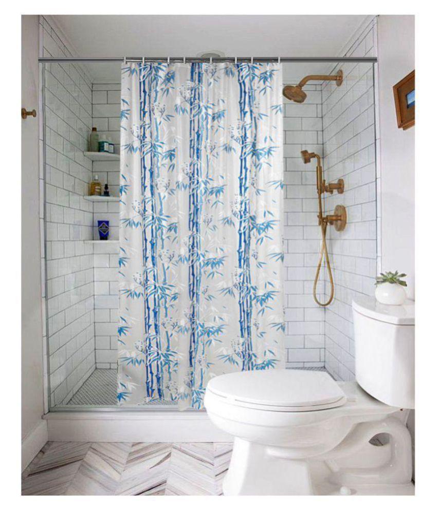 Dakshya Industries Set of 1 Shower Curtain Blue Others