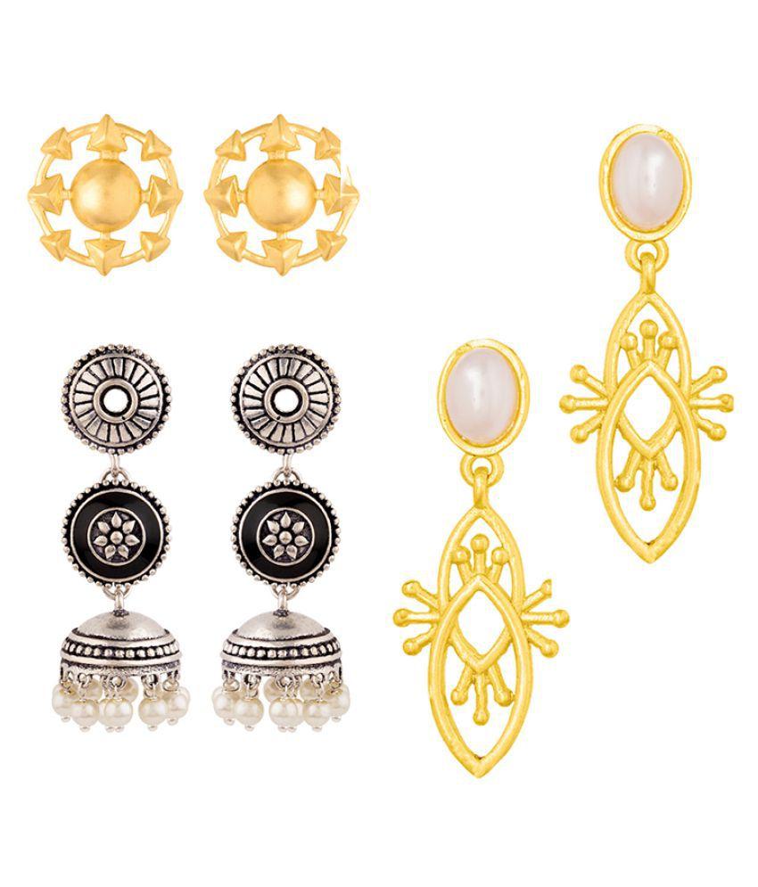 Voylla Graceful Drop Earrings Combo
