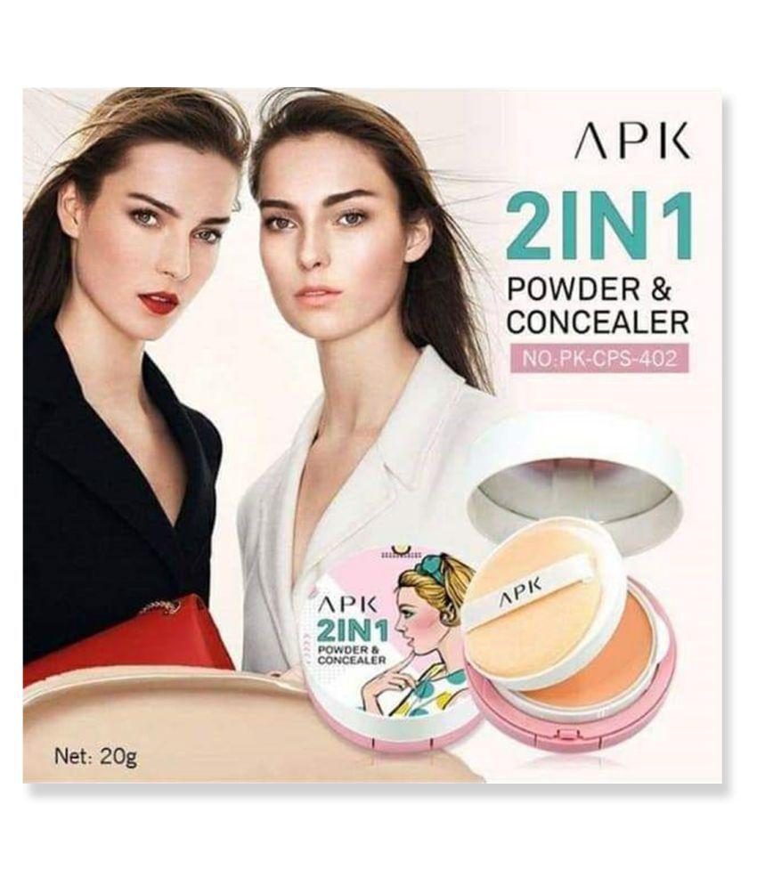APK 2 IN 1 Concealer & Pressed Powder With Adbeni Kajal Medium 20 g