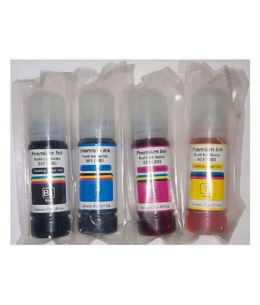 Kataria Refill Ink 001 003 Multicolor Pack of 4 Ink bottle for Epson L4150