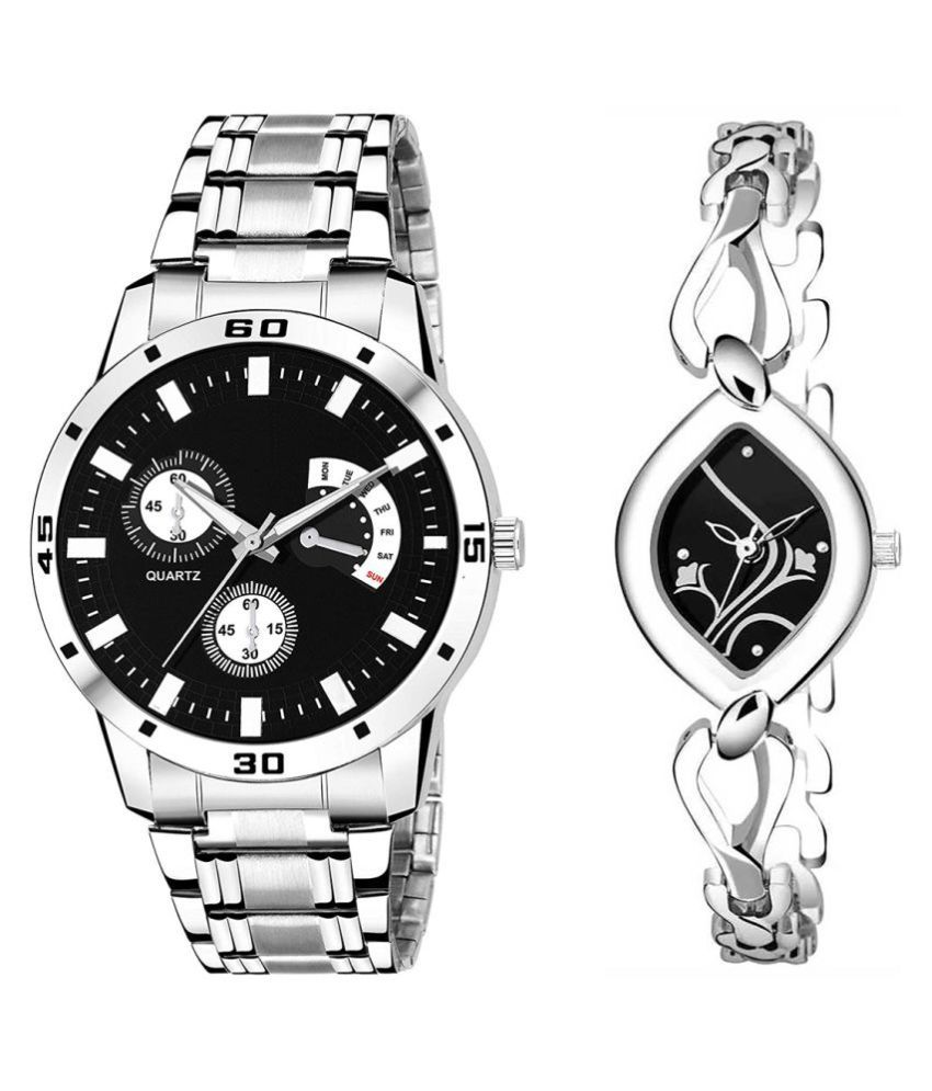 Selveen enteprise Black Dial Fancy Couple Watch For New Lovers DR080