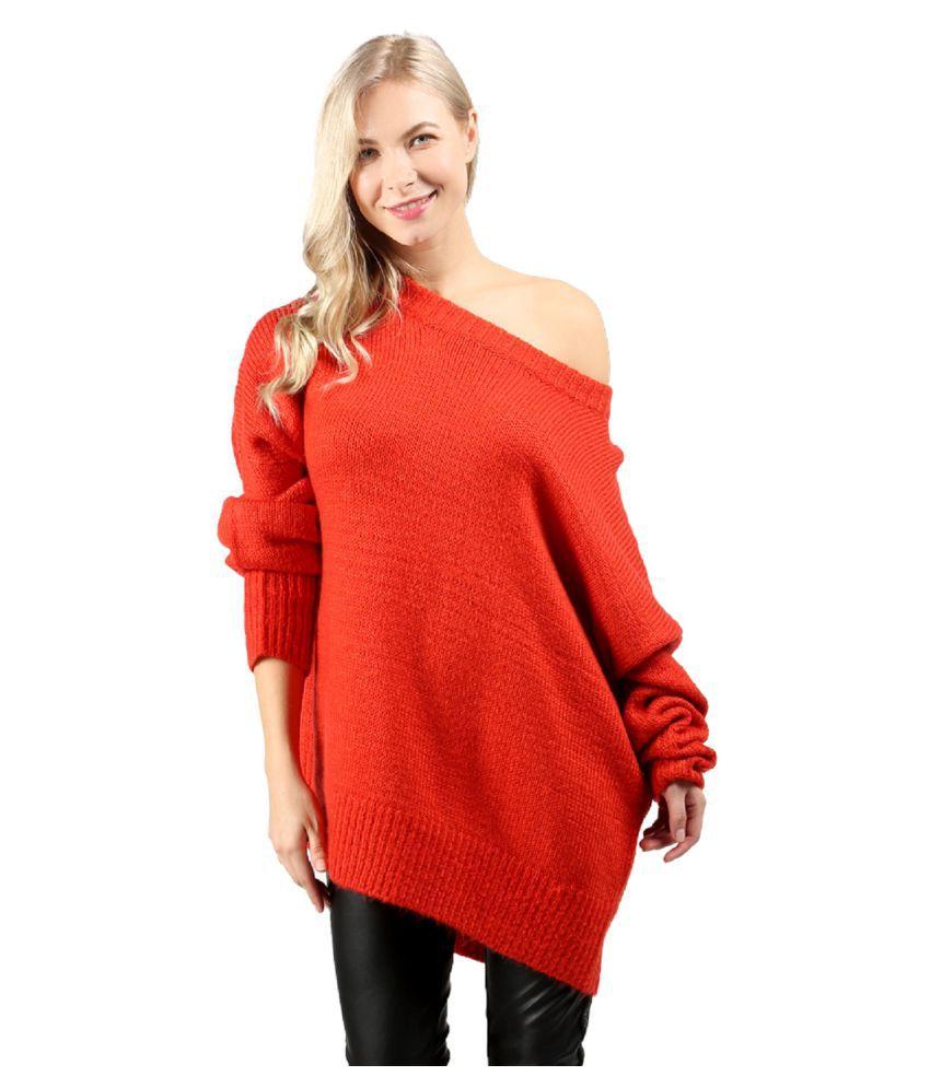 London Rag Nylon Red Non Hooded Sweatshirt