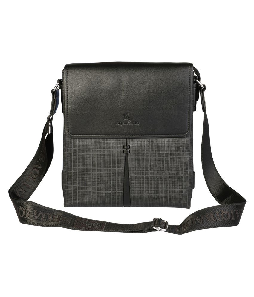 KOMTO 8185 Black Nylon Office Messenger Bag