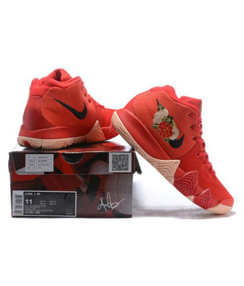 uk availability da458 159b7 Nike Kyrie 4 EP CNY IV Chinese New Year Floral Irving Asia Running Shoes Red