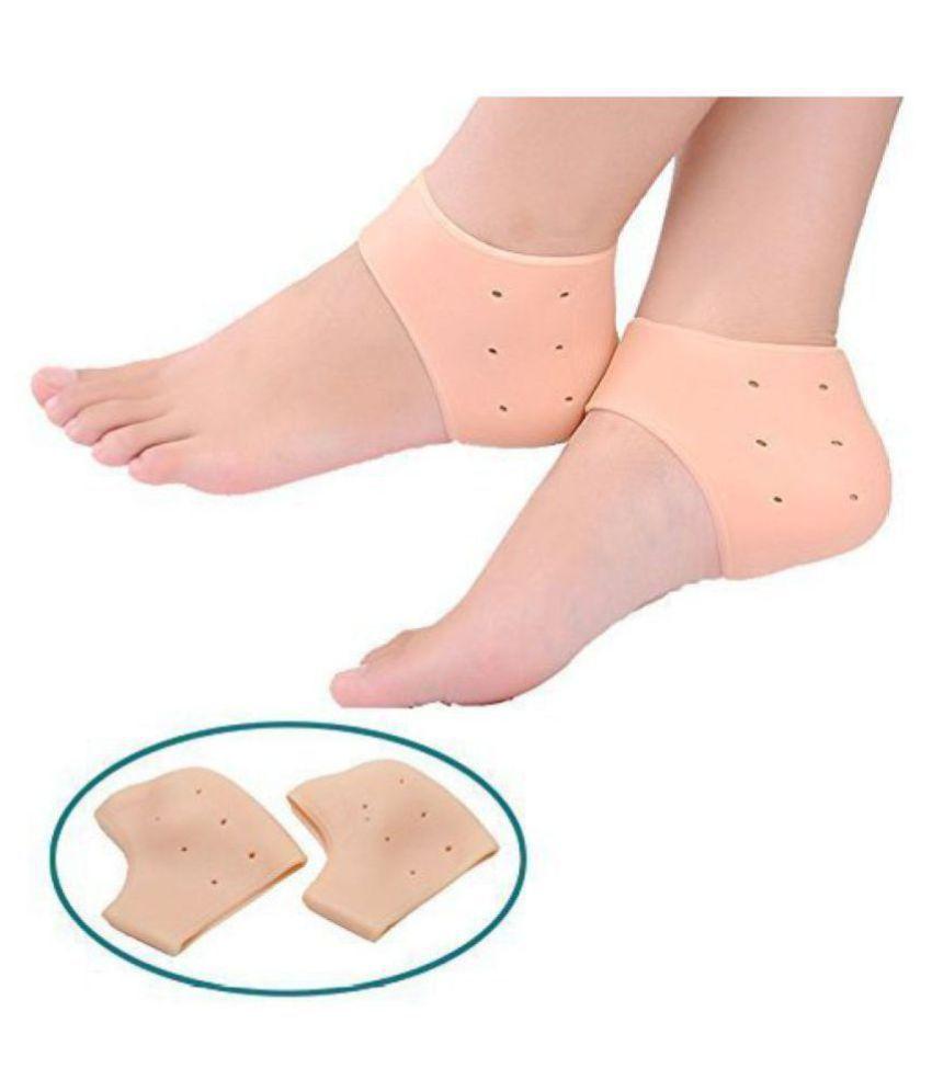 NANDKUVAR Silicone Gel Heel Socks With Gel Pad Free Size