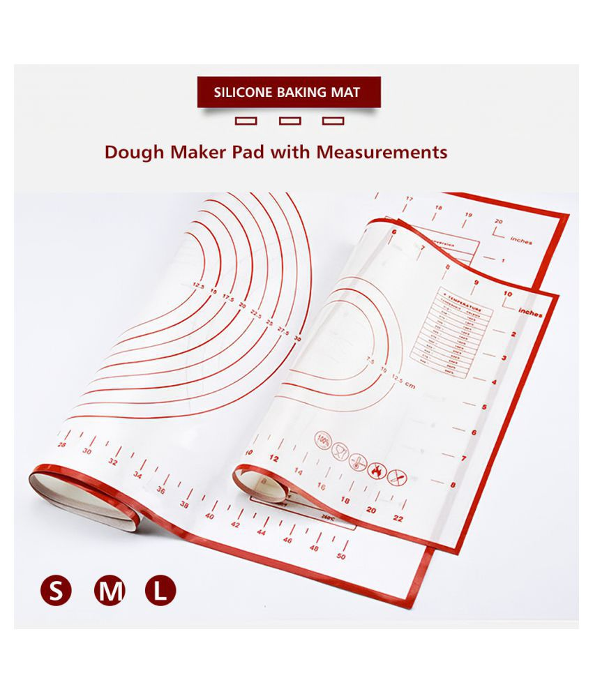 COCOSHOPE Baking Tools & Accessories 40 * 30cm Silicone Baking Mat Dough Maker Pad with Measurements Non-slip Non-stick Rolling Pastry Mat For Kitchen Birthday Wedding Party