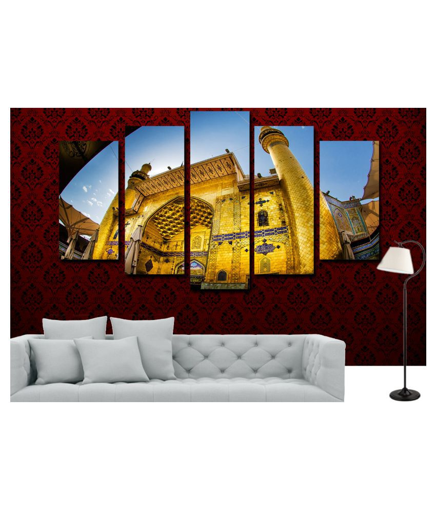 Rahman's Design & Shines Rahman's Design & Shines (Shrine Hussain) set of 5 Frames MDF MDF Painting With Frame
