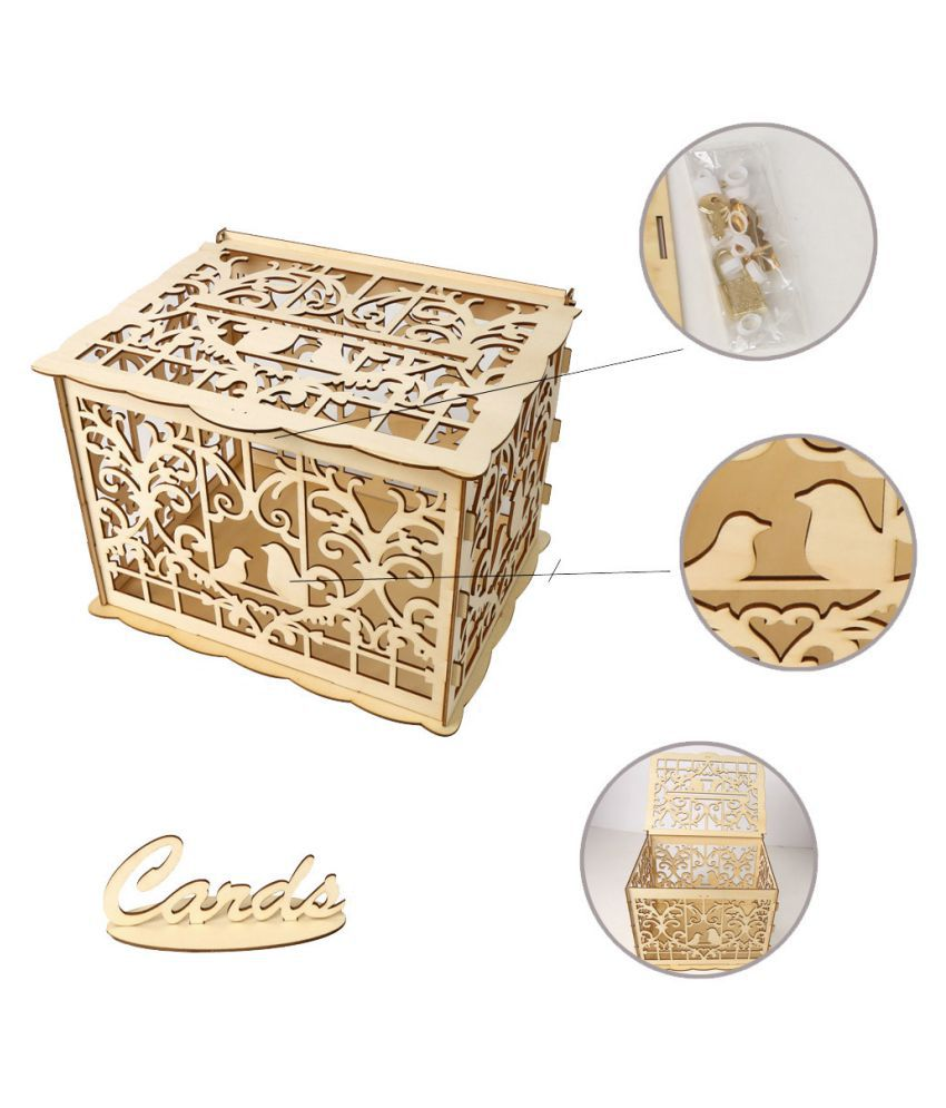 Wedding Card Box With Lock Diy Money Wooden Gift Boxes For Party Buy Wedding Card Box With Lock Diy Money Wooden Gift Boxes For Party At Best Price In India On Snapdeal