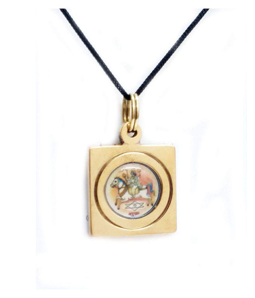 shukra graha yantra brass pendant