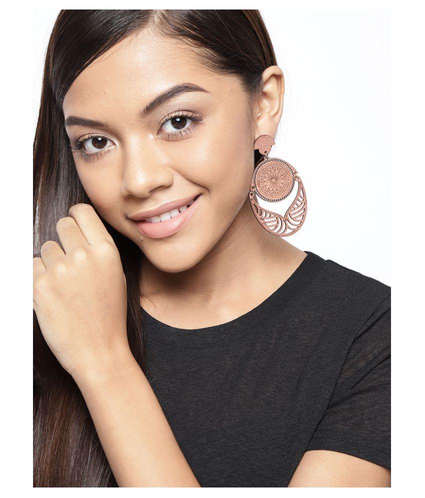 Prita Dangler Wooden Earrings For Girls and Women
