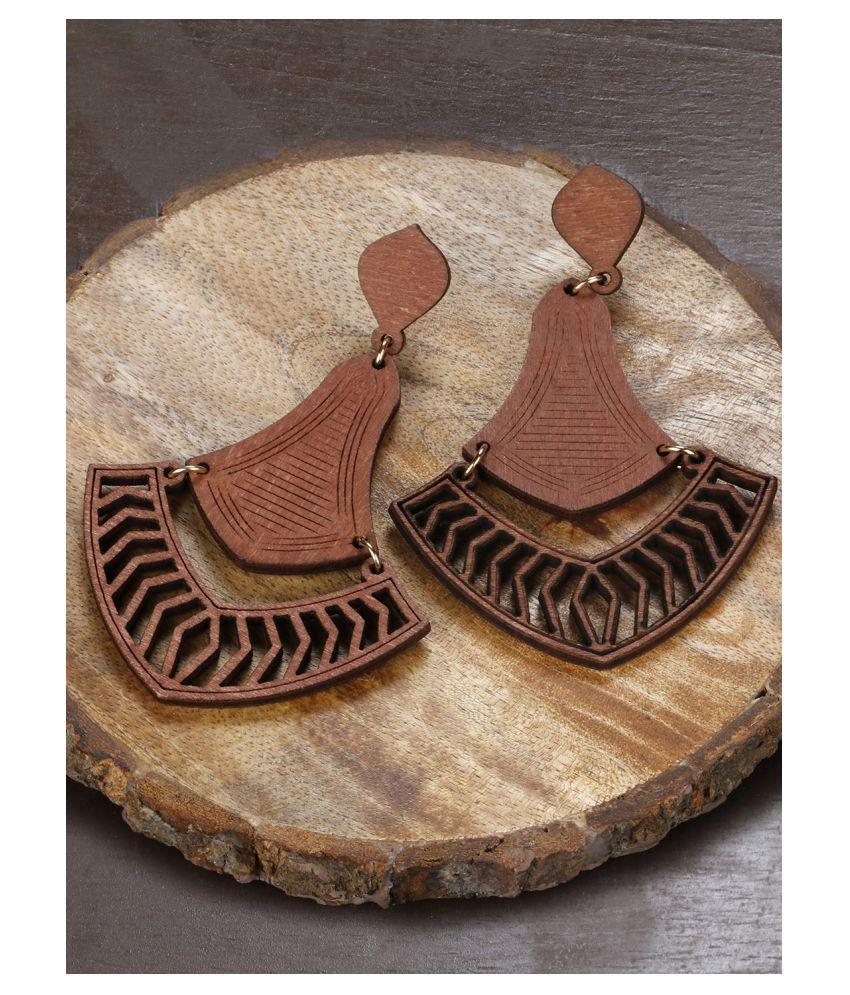 Prita Wooden Earring For Girls/Women