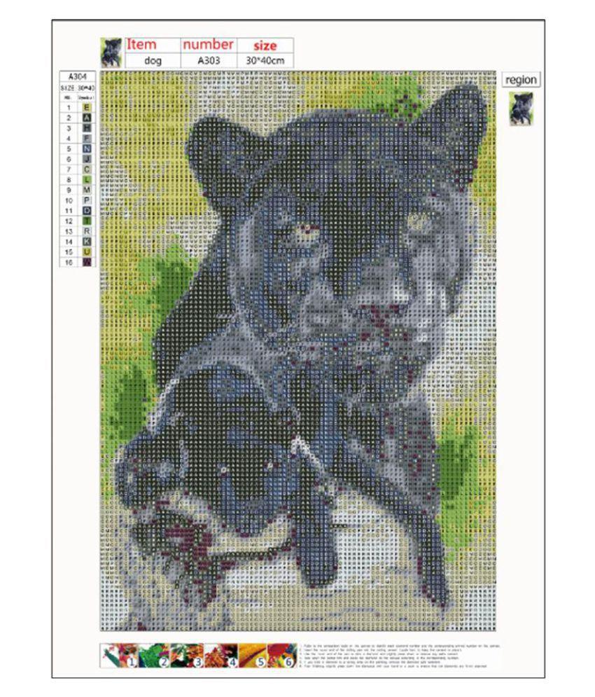 5D DIY Full Drill Diamond Painting Bear Cross Stitch Embroidery Mosaic Kit